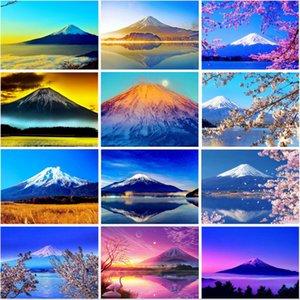 5D fai da te diamante Pittura esercitazione completa Monte Fuji Art diamante ricamo Strass Mountain Scenery Mosaico Punto Croce Home Decor