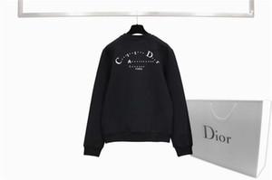 20FW Мужских толстовки свитера способа Sweatershirt капюшон Loong втулки Мужчины Женщина Пара Пуловер Письмо Curve Печатный Tops