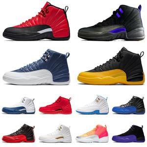 air jordan retro 12 aj 12s XII Concord Stone Blue University Gold Satin Bulls  nouvelle arrivée 2020 des chaussures de basket-ball pour hommes