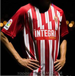 20 21 2020 2021 Sporting Gijón camiseta de fútbol Manu Garcia Djurdjevic Aitor G. JS BABIN IHN KIND Fußballhemden Trikots GIJÓN Fußball
