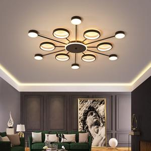 quarto moderno lustre minimalista Nordic lâmpada LED teto da sala sala personalidade macaron além de iluminação de ferro