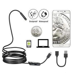 내시경 카메라 뱀 7 호선 / 8mm 렌즈 방수의 USB PC / 안드로이드 내시경 카메라를 들어 파이프 라인 자동차 / 홈