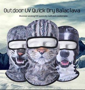 3D Cat Dog Cute Animal Balaclava Windproof Beanie Funny Helmet Liner Cool Winter Hat Warmer Full Face Cap Women Men Face Cap