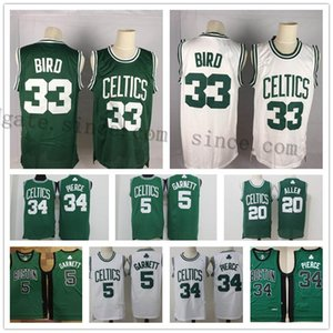 Vintage Boston Paul 34 Pierce Jersey Larry 33 Kuş Kevin 5 KG Garnett Bill 6 Russell Ray 34 Allen Basketbol Formalar