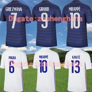 FFF MBAPPE GRIEZMANN POGBA لكرة القدم الفانيلة 2020 maillots التدريب GIROUD الفرنسية قبل مباراة دي القدم القمصان فرنسا لكرة القدم كانتي