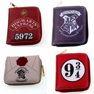 Anime New Harry sac carte carte main portefeuille Potter portefeuille fermeture à glissière périphérique hibou tête courte mode sac Porte-monnaie hTfJu