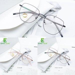 düzensiz metal ile yıldız optik manyetik olmayan metal titanyum çerçeve çift gözlük çerçevesi BJ7098 toplu Glasses