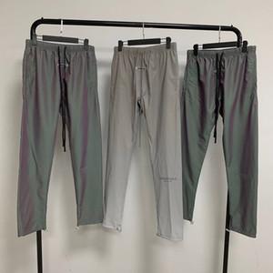 2020 Autumn Winter Fear Of God Essentials Colorful Laser Reflective Nylon Trousers Casual Fog Sweatpants Men Women Jogger Pants
