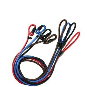 New Nylon Rope Dog whisperer Cesar Millan style Slip Training Leash Lead and Collar Red Blue Black 3 Colors SN3363