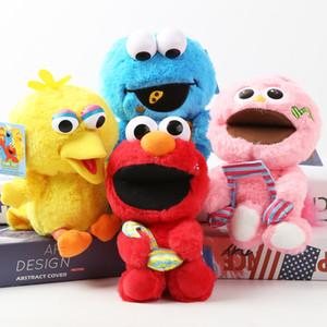 18cm de la felpa del Sesame Street Elmo de la galleta Big Bird niños de juguete de peluche de la muñeca de vacaciones regalo de Halloween