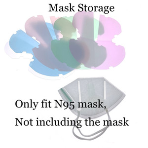 Mask Storage Box Face Mask Keeper Plastic PP Sheet Holder Mouth Clip Folding Case Folder Bag Protective Organizer Anti Dust Portable