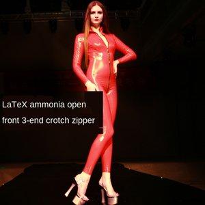 Specchio di modo lattice ammoniaca tutto il corpo un pezzo di danza pellicola automobile vestito e la notte la televisione passerella T-esposizione della fase di pantaloni stretti LaTeX TI