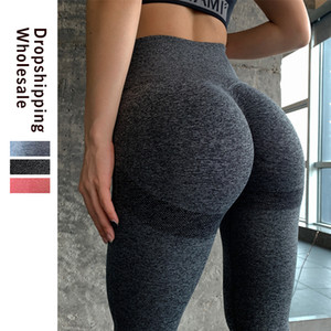 Leggings taille haute sans couture Push Up Leggins Sport Femmes Fitness Course Pantalons Gym énergie transparente leggings sport fille Leggins