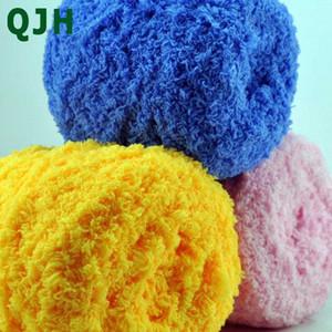QJH 500g New 5 Vertentes cor sólida Coral Velvet Yarn Softer mais respirável e confortável bebê DIY Toalha Linha Coral Cashmere KkZV #