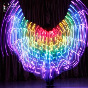 Costumi LED Bambini Ballerini prestazioni fluorescente Butterfly Wings Carnevale Belly Dance