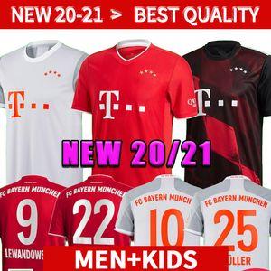20 21 Bayern Munich COUTINHO maillot de football LEWANDOWSKI MULLER 2020 HERNANDEZ 2021 chemises de football hommes + Kit enfants 120e anniversaire Münche