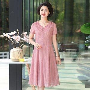 L dişi uzunluğu 2019 yaz yeni dantel Dantel elbise reçetesiz diz elbise ince toplanan bel kısa baz etek zTimm