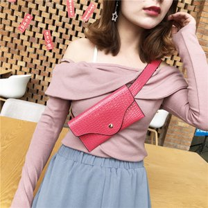 Bags for Women 2020 Women Pure Color Stone Pattern Leather Womens Bags Sac Taille Ceinture Femmes Waist Bag Phone #C