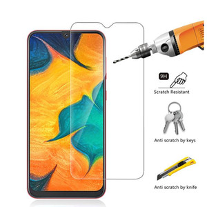 Cgjxsmoq 50pcs Mobile Phone Tempered Glass For Samsung M10 M20 M30 Screen Protector 2 .5d 9h High Clear Glass Protector
