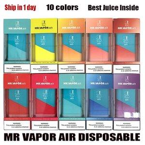 top MR VAPOR ar descartáveis 500puffs Kit Dispositivo 350mAh Battery Bar vaporizador Pen 3ml Pod esvaziar Cartucho vs brisa mais estrondo XXL