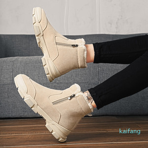 Hot sale-Cheap White black Chestnut designer classic boots man women girl snow boots bowtie ankle short bow boot winter fashion size 39-44