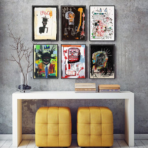 Custom Jean Michel Street Graffiti Poster And Prints Artist Canvas Painting Modern Wall Art Picture For Living Room Home Decor
