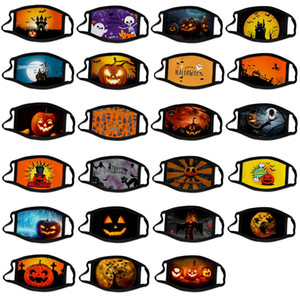face mask fashion face masks halloween Christmas dustproof printing polyester mask ice silk washable mouth facemask