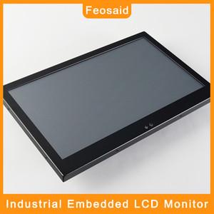 "Feosaid 14"" display LCD industrial 18,5"" 15,6 polegadas 17.3"" input Tablet Monitor de Resistência toque VGA DVI Embedded para computador"