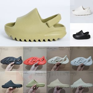 Adidas Yeezy 2020 Hot Kids Children Hospital Blau Foam Runner Kanye West Slipper Knochen White Earth Triple Black Resin Slides Männer Frauen 450 Fashion Sandal
