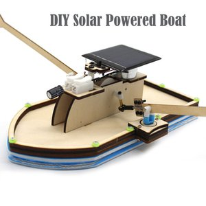 High Quality Solar Powered Boat DIY Model Robot Boat Ship Puzzle Educational Toy Kit Kid funny Kids Toys Gift Z0306