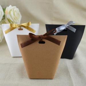 DIY Blank Kraft Kağıt Torba CBag Düğün Kutu Çikolata Karton doğum günü partisi Retro Kraft Kağıt Torba DHB1426