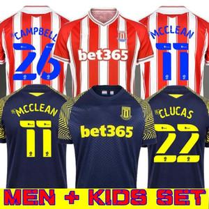 20 21 Stoke City maison loin CLUCAS GREGORY POWELL CAMPBELL Football Shirt 2020 2021 Stoke City rouge noir MCCLEAN VOKES Afobe Football Maillots