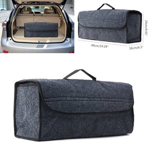 Brand New Style Large Anti Slip Car Trunk Compartment Boot Storage Organiser Gray Case Utility Tool Bag