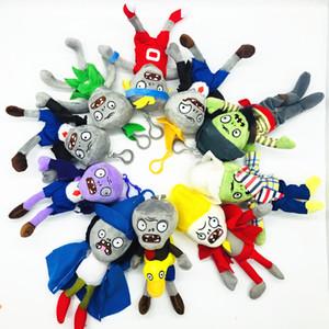 Plants vs Zombies 18cm niños de juguete de peluche llavero colgante de la muñeca de la felpa del regalo de vacaciones de Halloween