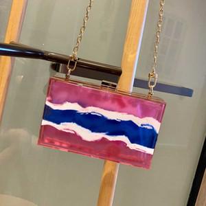 Mode féminine Transparent Stockage cristal boîte Pvc cosmétiques clair Sac de maquillage Make Up Flap Sac à bandoulière