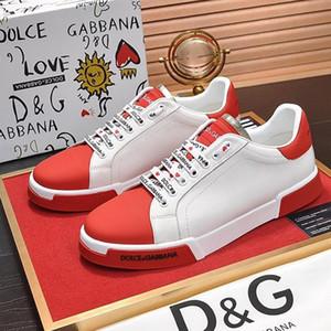 Moda Hombres Zapatos piel de becerro de Nappa Portofino las zapatillas de deporte Zapatos Pour Hommes caliente de la venta de los hombres zapatos de moda de lujo Tipo Scarpe Da Uomo Fast Ship