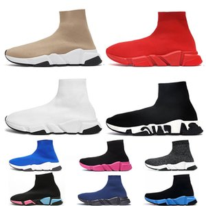 New Arrivals sock shoes speed trainers mens womens platform sneakers tripler étoile vintage Graffiti casual shoes women ankle socks boots