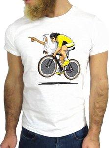 Maglietta degli uomini 2019 Estate girocollo Uomo Hipster Raffreddare O Collo Tops Motociclista biciclette Man Guy modo di colori Godetevi Soccers magliette