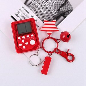 Mini Console Game Machine Childrens Handheld Nostalgic Mini Game Console With Keychain Tetris Video Kids Children Gifts Oq2W#