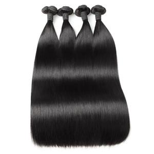 Ishow فونمي الشعر 100A ضعف الانتباه مستقيم الإنسان حزم الشعر 3 / 4Bundles البرازيلي بيرو الماليزي الهندي شعر إمتداد