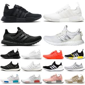 adidas nmd r1 ultraboost ultra boost triple noir blanc hommes femmes chaussures de course hommes femmes formateurs baskets de sport coureurs