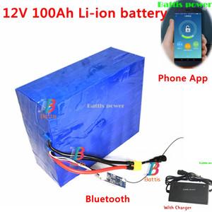 12V 100Ah Li-ion 80Ah 50Ah 12v 60Ah li ion battery Smart BMS App bluetooth for golf trolly cart power supply + 12.6v charger