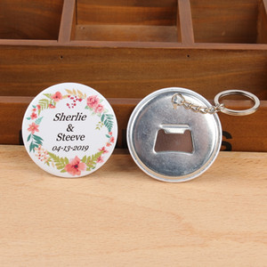 50pcs custom logo Personalized name & date Bottle Opener with Keychain wedding favors and gifts for guest wedding decoration