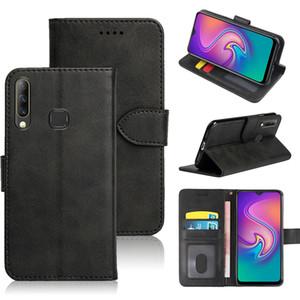 Cartera de cuero simple de color sólido para Infinix Hot S4 X626 Smart 3 Plus LC6 Funda telefónica con ranura de tarjeta de identificación