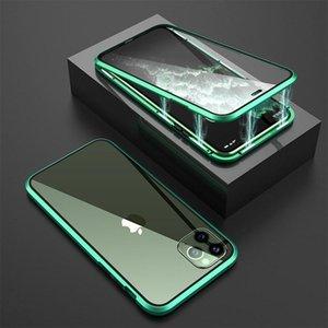 cgjxsFor Iphone 11 Magneto Pro Max magnétique Adsorption Double protection écran téléphone à flancs pour iPhone 11 Cover B