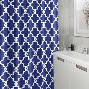 Geometric poliéster Banho Cortina Crown Flower chuveiro cortina de chuveiro Waterproof Cortinas Impressão Cortinas Decoração Yfa225