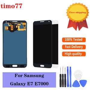 Samsung Galaxy E7 E700 E700F E7000 E7009 ücretsiz kargo DHL için Süper kalite OLED LCD Ekran Dokunmatik ekran Sayısallaştırıcı Değiştirme