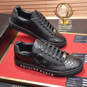 Moda Sneakers Erkek Lüks Kauçuk Taban Lo -Top Sneakers Herren -schuhe Nefes Erkek Ayakkabı Moda Flats Px2588 Sıcak Satış Deri Ayakkabı