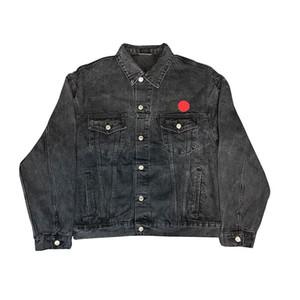 Mens famosa Jacket Moda Casaco Homens Mulheres Denim Carta Bordado Hip Hop Elegante Jacket Mens Clothing