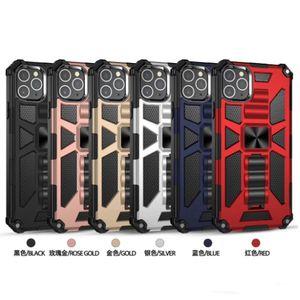 iPhone 12 Vaka Hibrid Darbeye Armor İçin Kılıf iPhone 12 pro maksimum 11 Pro Max XS XR X 6 7 8 Artı Yüzük Manyetik Araç Tutucu Kapak Standı